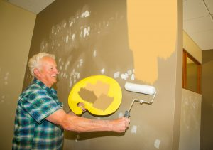 Dave shows his artistic flair with his specialized painting techniques!