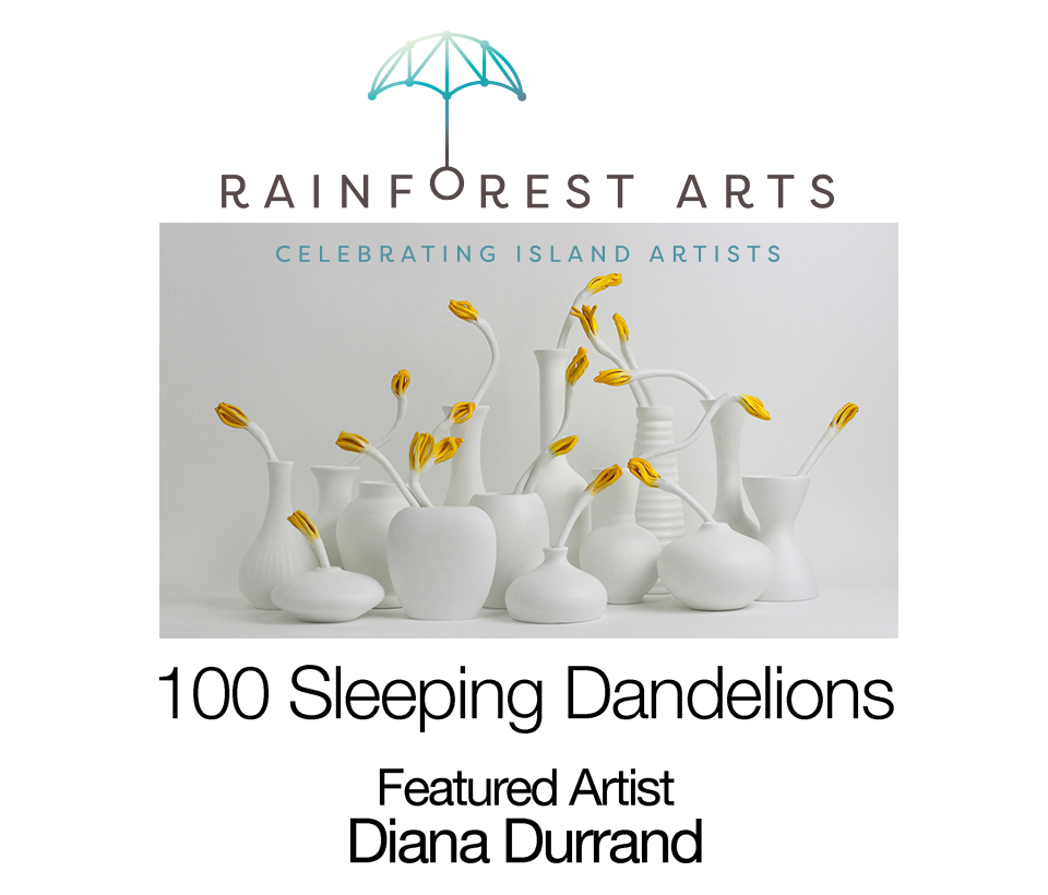 Diana Durrand, 100 Sleeping Dandelions, Featured Artist March & April, 2019