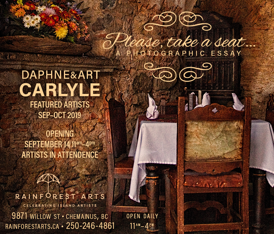 Art & Daphne Carlyle, Please, Take a Seat, Featured Artists for September & October, 2019