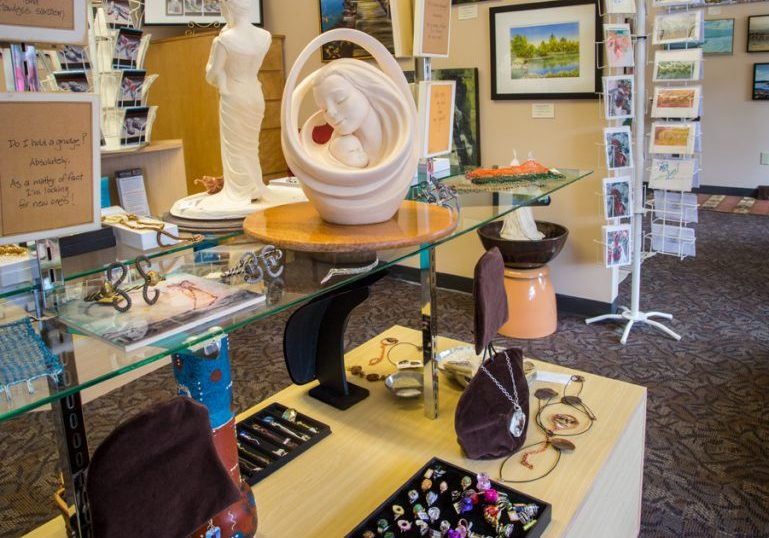 The gallery at Rainforest Arts
